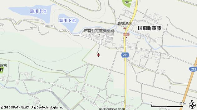 大分県国東市国東町重藤170周辺の地図