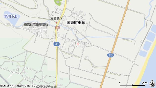 大分県国東市国東町重藤483周辺の地図