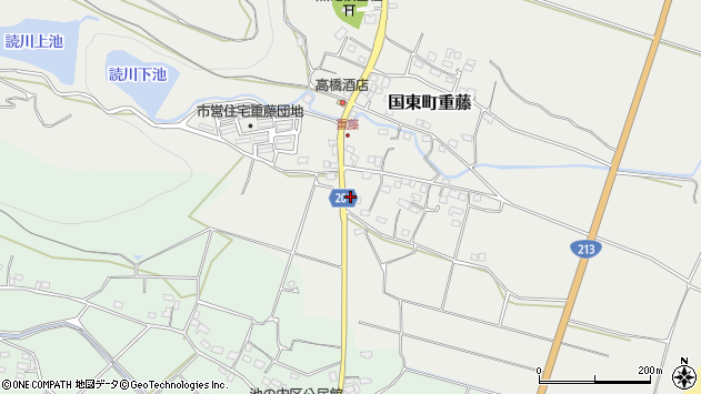 大分県国東市国東町重藤424周辺の地図