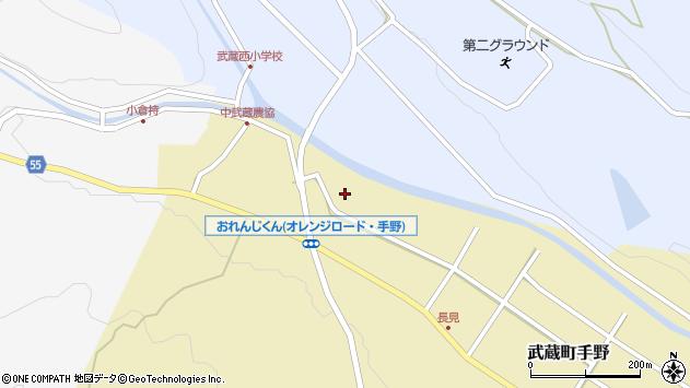 大分県国東市武蔵町手野1033周辺の地図