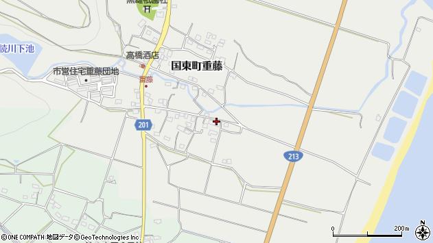 大分県国東市国東町重藤487周辺の地図