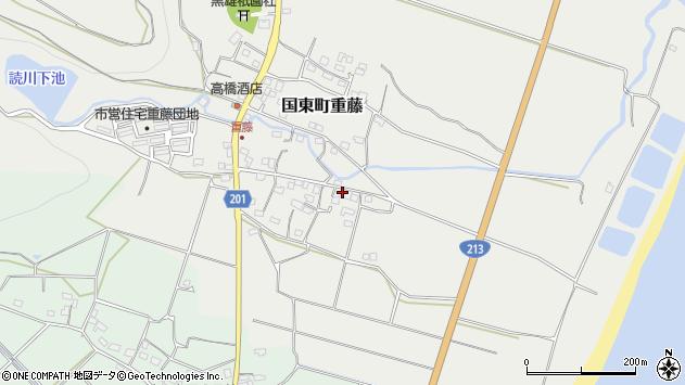大分県国東市国東町重藤486周辺の地図