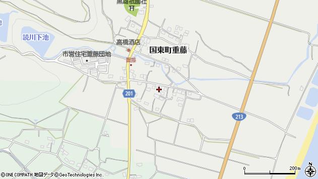 大分県国東市国東町重藤458周辺の地図