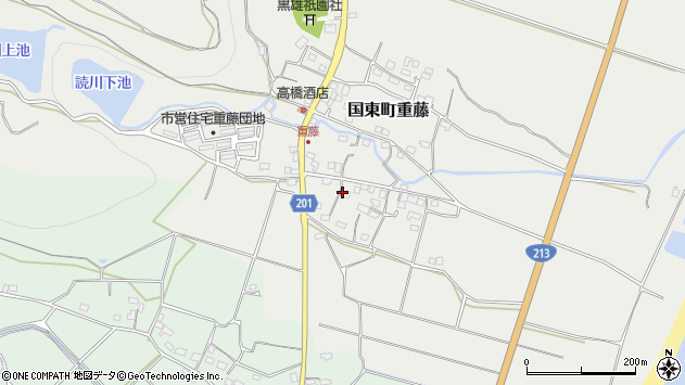 大分県国東市国東町重藤437周辺の地図