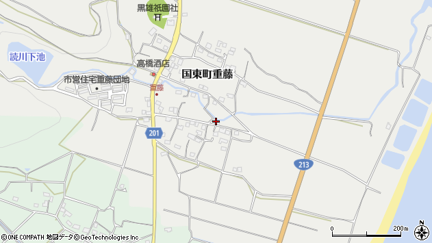 大分県国東市国東町重藤484周辺の地図
