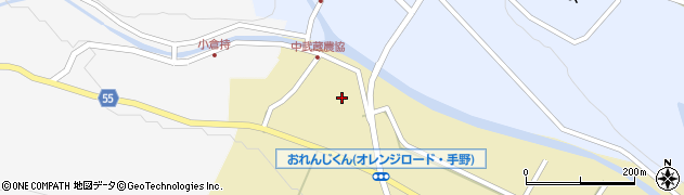 大分県国東市武蔵町手野周辺の地図