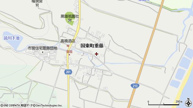 大分県国東市国東町重藤356周辺の地図