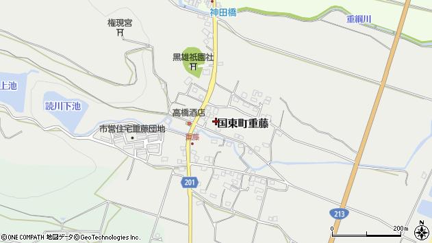 大分県国東市国東町重藤周辺の地図