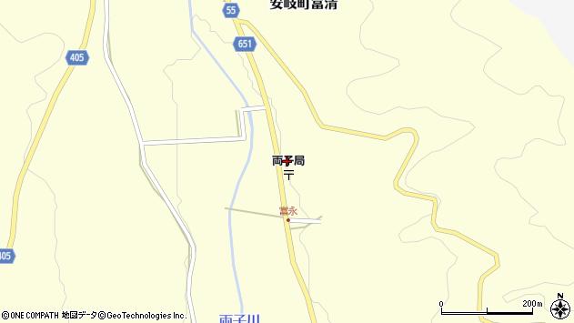 大分県国東市安岐町富清6周辺の地図