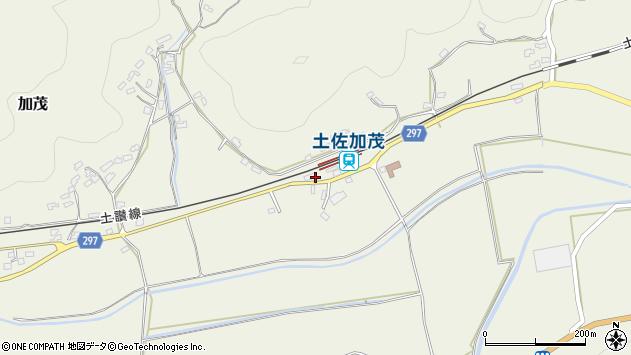 高知県高岡郡佐川町加茂周辺の地図