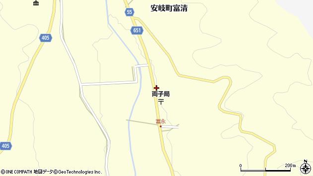 大分県国東市安岐町富清3869周辺の地図