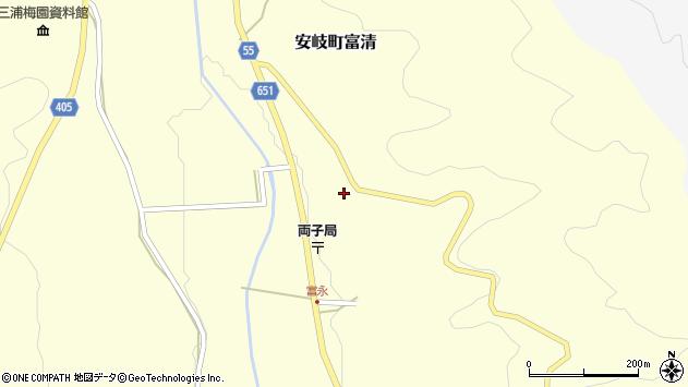 大分県国東市安岐町富清3888周辺の地図