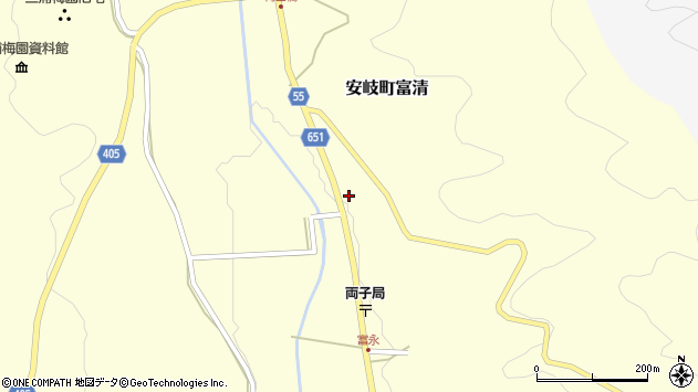 大分県国東市安岐町富清3712周辺の地図