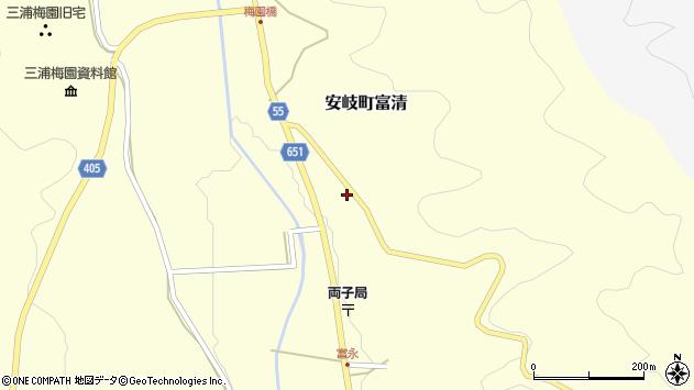 大分県国東市安岐町富清3725周辺の地図