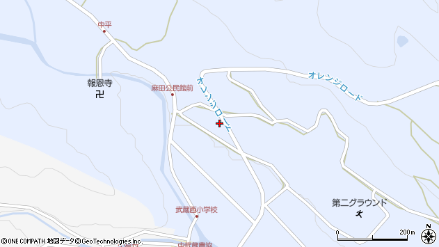 大分県国東市武蔵町麻田434周辺の地図