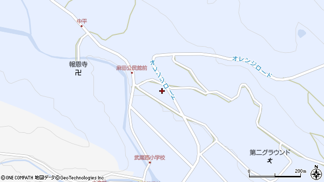 大分県国東市武蔵町麻田433周辺の地図