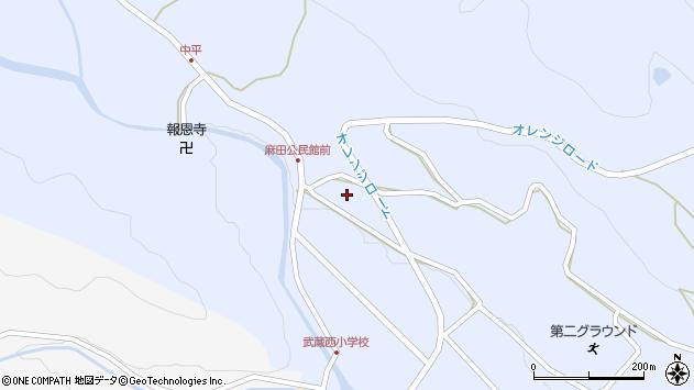 大分県国東市武蔵町麻田513周辺の地図