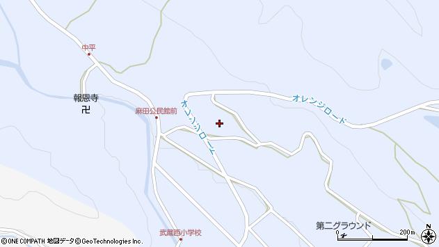 大分県国東市武蔵町麻田443周辺の地図