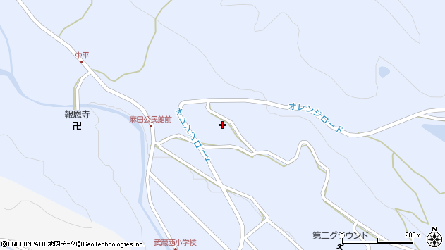 大分県国東市武蔵町麻田448周辺の地図