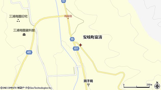 大分県国東市安岐町富清2948周辺の地図