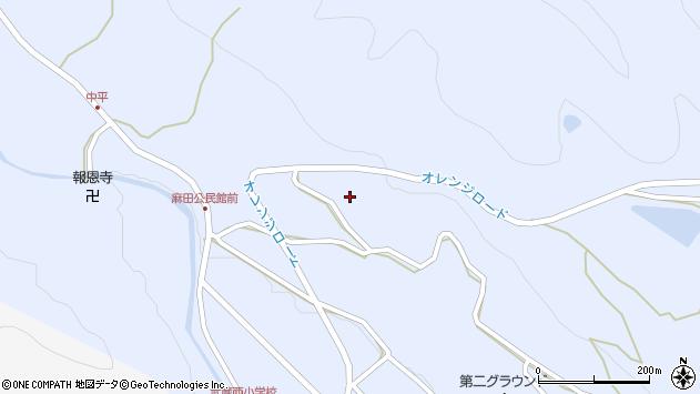 大分県国東市武蔵町麻田大条周辺の地図