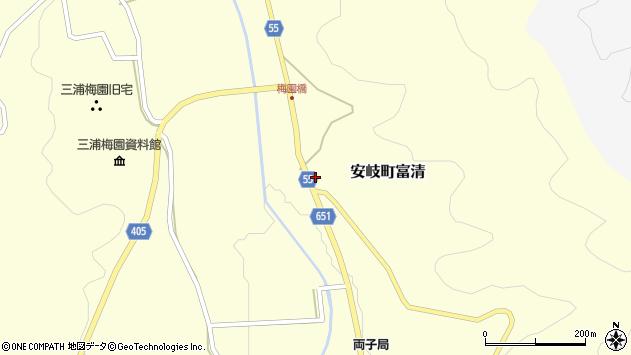 大分県国東市安岐町富清3691周辺の地図