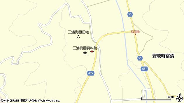 大分県国東市安岐町富清2497周辺の地図