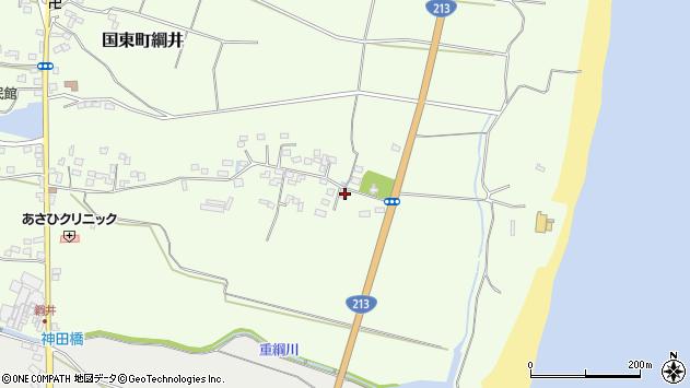 大分県国東市国東町綱井677周辺の地図