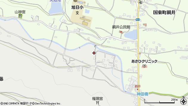 大分県国東市国東町重藤影平周辺の地図