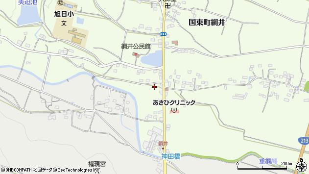 大分県国東市国東町綱井1996周辺の地図