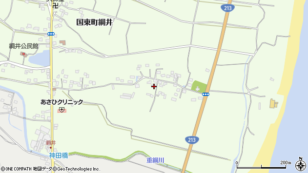 大分県国東市国東町綱井640周辺の地図
