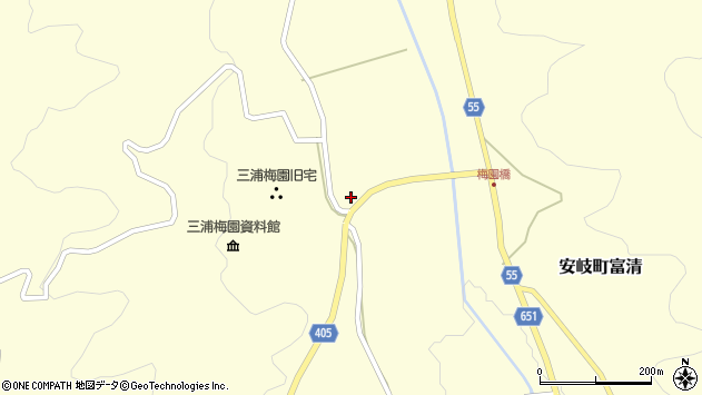 大分県国東市安岐町富清2617周辺の地図