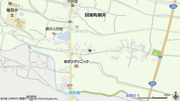 大分県国東市国東町綱井576周辺の地図