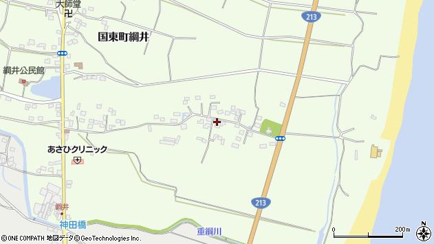 大分県国東市国東町綱井637周辺の地図