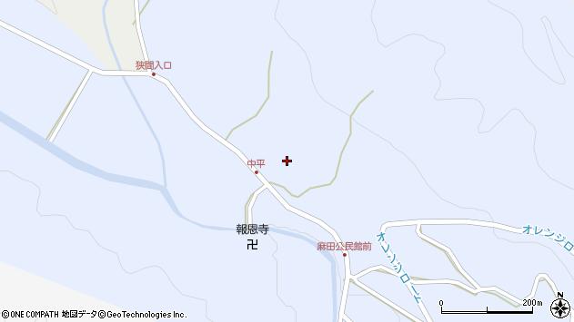 大分県国東市武蔵町麻田中平周辺の地図