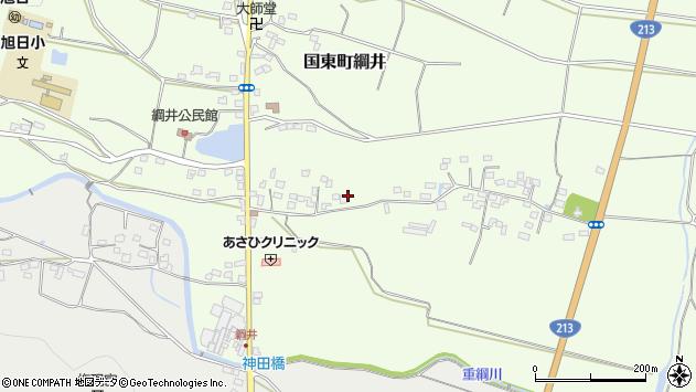 大分県国東市国東町綱井584周辺の地図