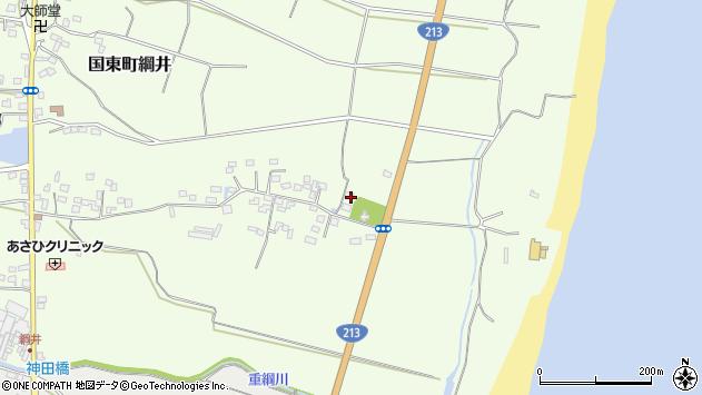 大分県国東市国東町綱井744周辺の地図