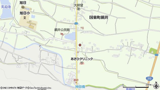 大分県国東市国東町綱井542周辺の地図