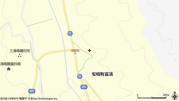 大分県国東市安岐町富清3580周辺の地図