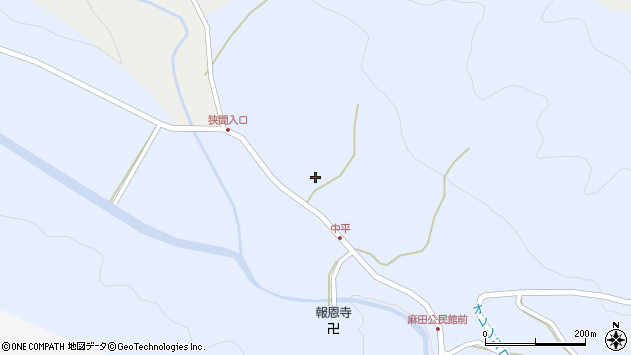 大分県国東市武蔵町麻田767周辺の地図