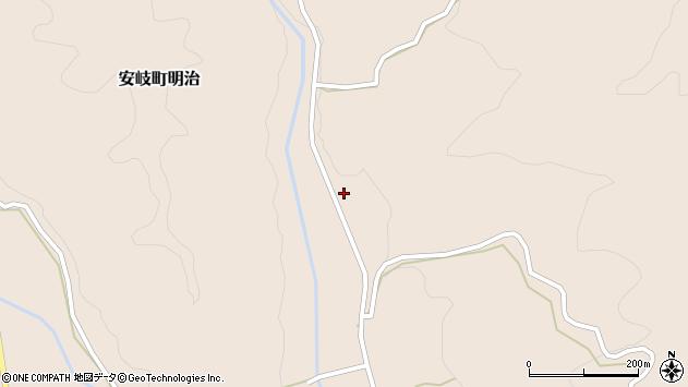 大分県国東市安岐町明治2455周辺の地図