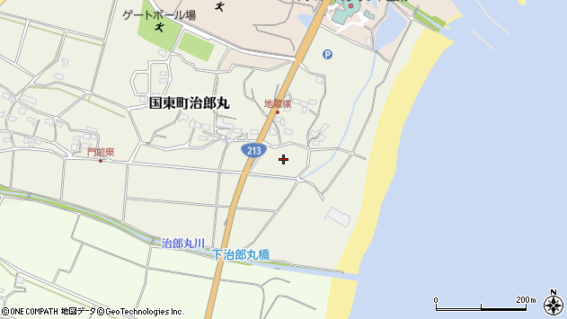 大分県国東市国東町治郎丸塩屋周辺の地図