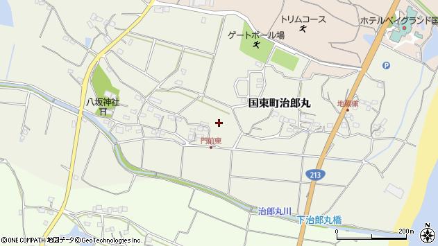 大分県国東市国東町治郎丸門前周辺の地図