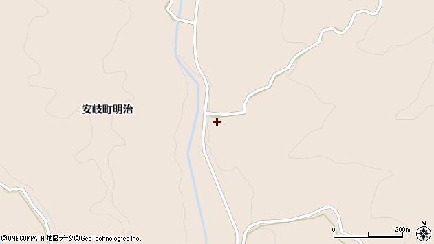 大分県国東市安岐町明治2299周辺の地図