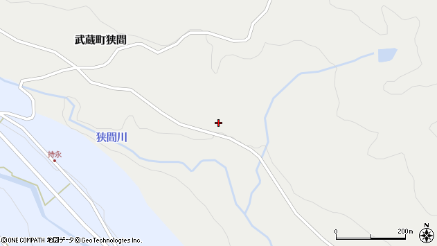 大分県国東市武蔵町狭間498周辺の地図