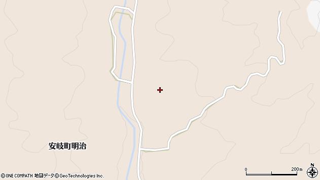 大分県国東市安岐町明治2182周辺の地図