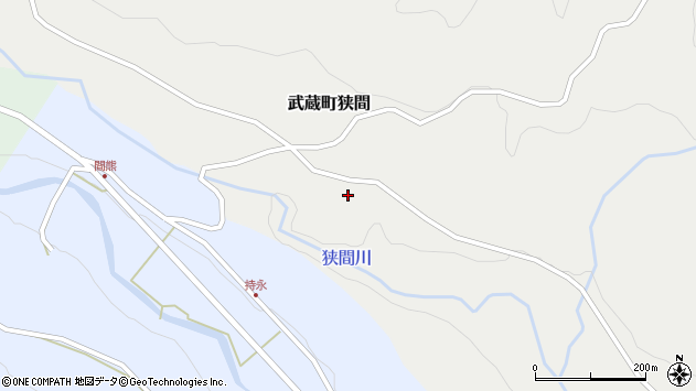 大分県国東市武蔵町狭間704周辺の地図