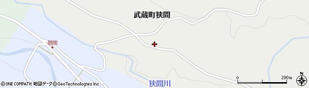 大分県国東市武蔵町狭間696周辺の地図