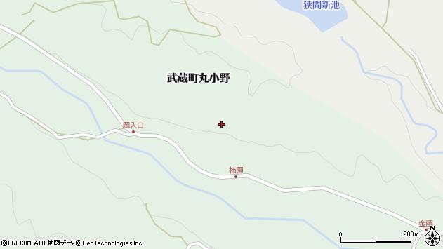 大分県国東市武蔵町丸小野柿園周辺の地図