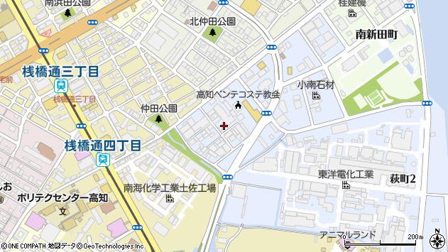 高知県高知市萩町周辺の地図